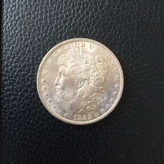 USA Morgan UNC 1885 O Oregon silver dollar