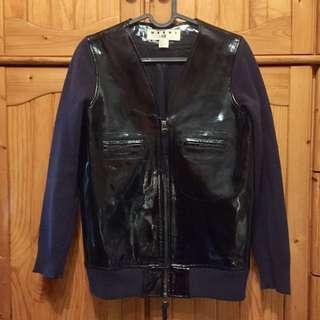 Marni at H&M leather bomber jacket