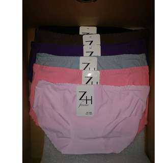 ZH Forever Seamless Microfiber Panties (6 piece set) (No. 8205 Free Size)