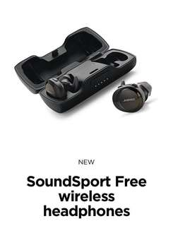 (BNIB) Bose SoundSport Free Truly Wireless Sport Headphone