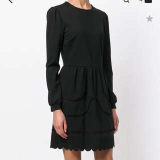 Nearly new Red Valentino black dress sz S