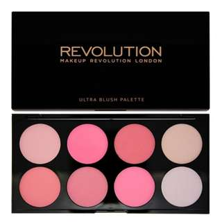 Makeup Revolution brand new in box tambeauty blush blusher palette - all about pink - matte shimmer baked tambeauty