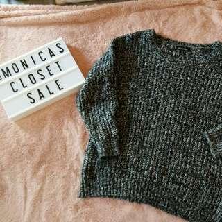 Dark Heather Grey Knit Sweater