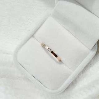 玫瑰金石 女 戒指 預訂款 G01