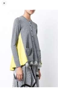 New Sacai wool cardigan sz1