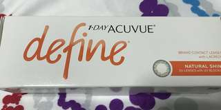 Acuvue Define contact lenses (box of 30)