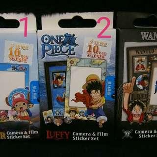 海賊王 草帽團 拍立得(即影即有)邊框貼紙 10張one piece camera sticker set 10pcs