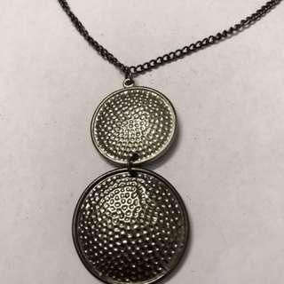 Silver grey necklace