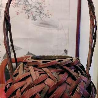 日本竹編花籃花器