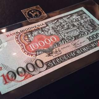 >Banknotes Indonesia 10,000 rupiah(Bali) -1975 for sale