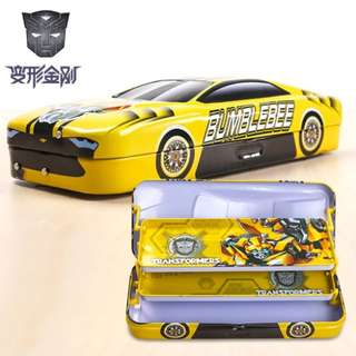 🦄 Transformers Bumblebee Optimus Prime / Disney / Mickey / Donald 3 tiered Pencil Box