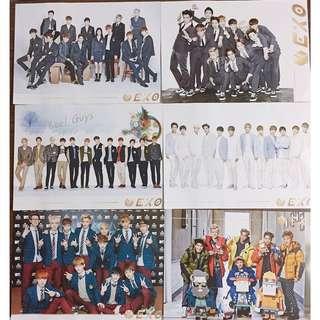 韓國購入EXO海報及folder週邊