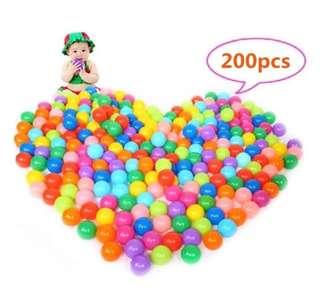 [PO] #1045 200 pcs Colorful Plastic Balls