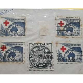 AUSTRALIA -  vintage Collection of 11 Stamps