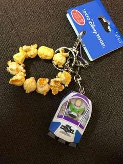 日本東京迪士尼玩具總動員巴斯光年爆谷keychain