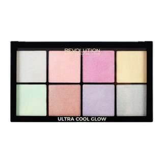 The Makeup revolution Tambeauty Brand new in box bnib Highlighter palette ultra cool glow - pink purple green yellow gold