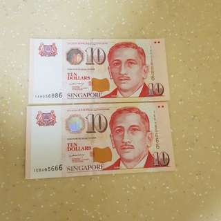 10 Dollar Notes HUAT NUMBER Part 1
