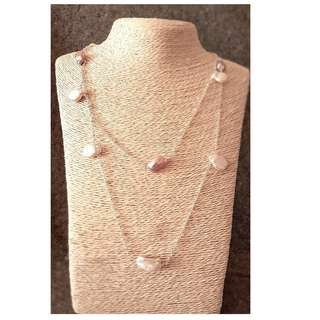 HANDMADE! Genuine Pearl Necklace 30015