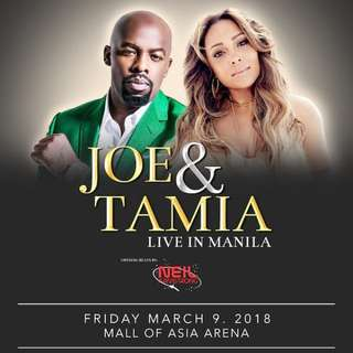 2 VIP Tickets to Joe & Tamia Live in Manila Concert