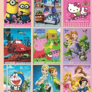 Sticker Colouring Book - Stickers - Coloring Book
