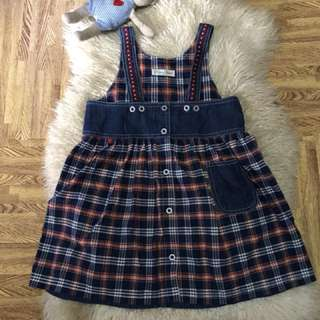 Denim jumpsuit very nice in actual fits to 5-8 years old /direct contact #09956396640