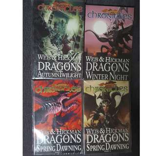 Dragonlance Chronicles vol 1 to 4 HC and TPBs