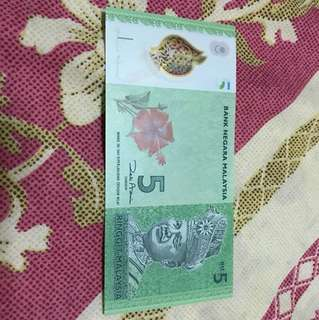 5Ringgit ZC0023406 UNC condition