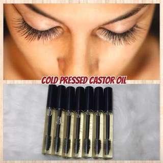 Castor oil for eyelash growth 10ml mascara bottle