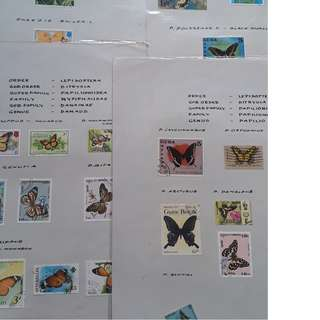 BUTTERFLY - WORLD MIXED - 50 Stamps Collection