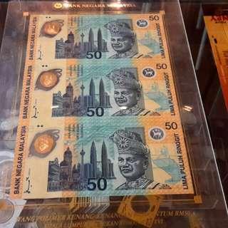 "Rm50..,Komanwel 1998 ""uncut banknotes"" Limited edition"