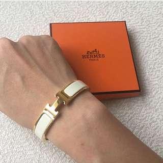 AUTHENTIC HERMES Clic Clac H Bracelet PM