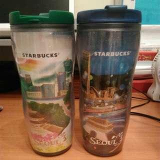 Starbucks首爾杯(日夜)兩隻