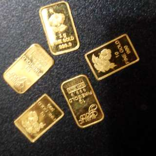 Gold bar 999.9karat