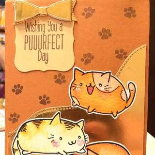 Puuurfect day handmade card