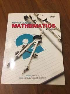 New Syllabus Mathematics 7th Edition Sec 2 math textbook