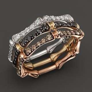 AUTIUM Bamboo wedbands set with diamonds - customisation