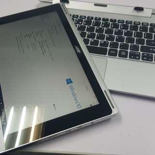 (超新淨)Acer switch 10 四合一 平板 手提電腦 64gb ssd 8秒開機 4g上網