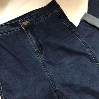 深藍色緊身窄腳長褲 jegging