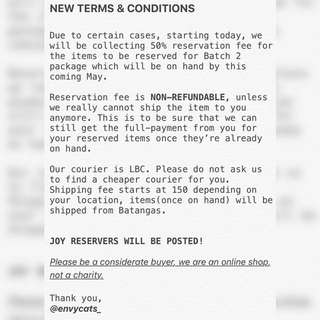 NEW TERMS&CONDITIONS