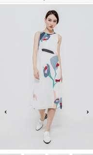 Dainty roses watercolour dress