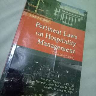Tourism Law Book