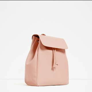 Zara aw16 Pink Leather Bag