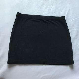 ASOS Black Bandage Skirt