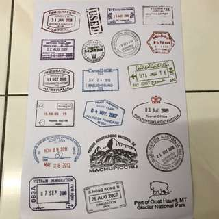 A50 Passport stamp - Luggage/ notebook/ guitar / laptop stickers