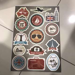 A55 Country - Luggage/ notebook/ guitar / laptop stickers