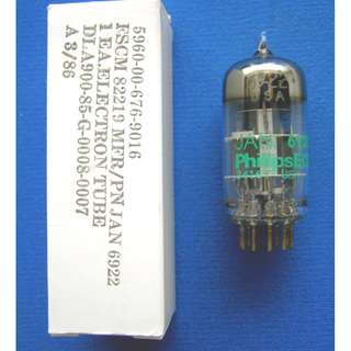 Jan Philips 6922 Tube - 6DJ8 / 6922 / ECC88 / E88CC / CV2492 /6N11