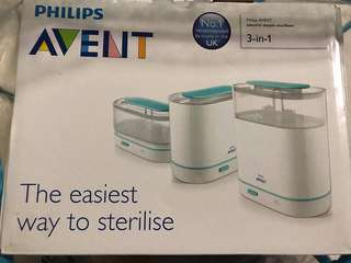 Avent 3 in 1 Steriliser (pre loved)
