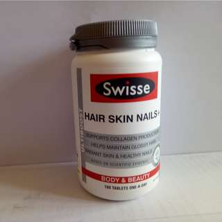 New.  Swisse Hair Skin Nail+ 100 tablets