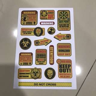 A58 Warning - Luggage/ notebook/ guitar / laptop stickers