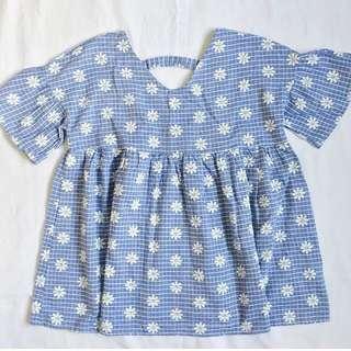 Blue Floral Cutie Top ❤️